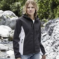 TJ9515 Tee Jays Giacca donna in softshell bicolore con cappuccio Thumbnail